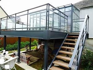 terrasse metal sur pilotis evtod With terrasse sur pilotis metal