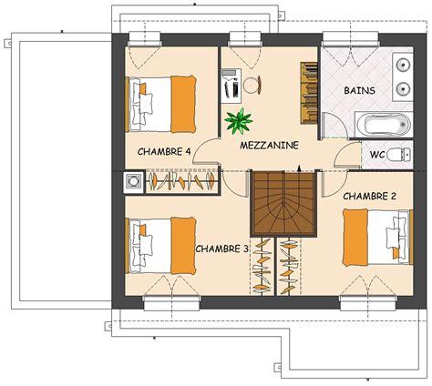 plan maison 4 chambres 騁age la maison moderne prevoit un niveau maison moderne