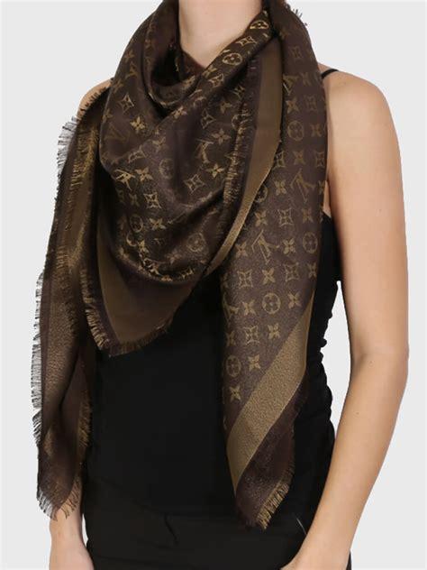 louis vuitton monogram lurex shine shawl brown luxury bags
