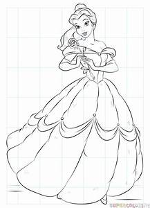 How To Draw Belle From Beauty And The Beast Step By Step