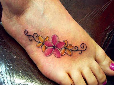 glamorized foot flower tattoos  designs