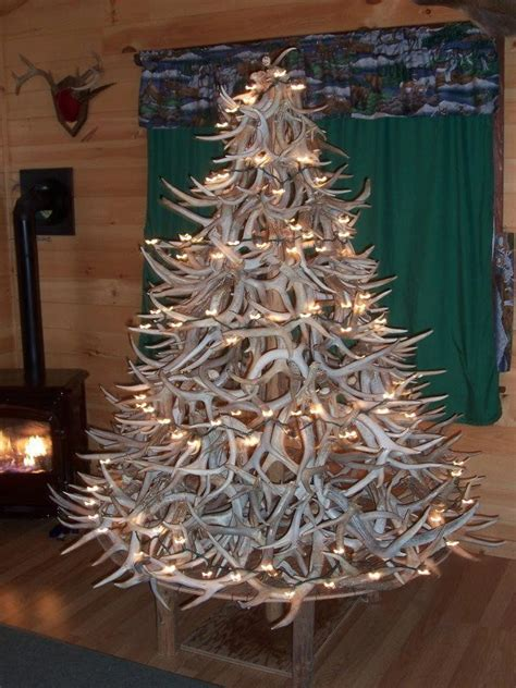 shed antler christmas trees      festive