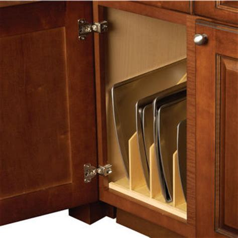 kitchen cabinet cookie sheet organizer tray organizers divide your cookie sheets pots and pans 7756