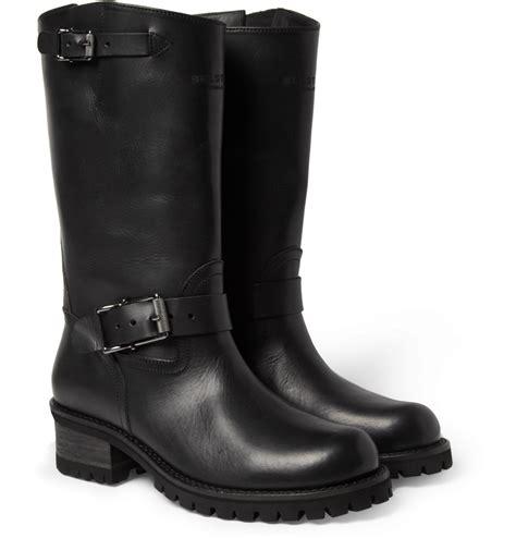 biker boots men lyst belstaff fulham leather biker boots in black for men