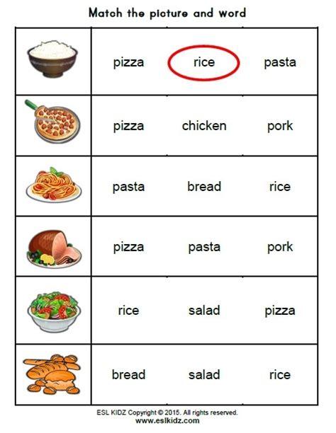 food worksheets food