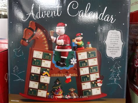 advent calendar wooden rocking horse
