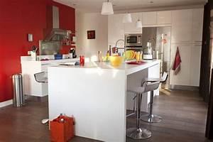 Ilot Centrale Pas Cher : reportage sur une cuisine avec lot central c t ~ Dailycaller-alerts.com Idées de Décoration