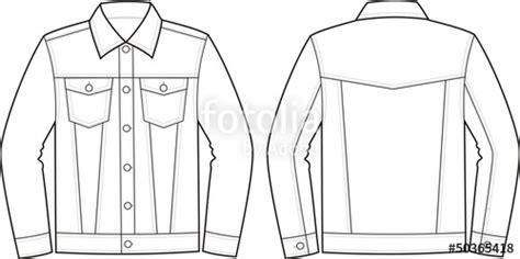 vector fashion illustration  jeans jacket stock image