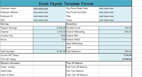 Pay stub template exceltemplate net by exceltemplate.net. Download Excel Payslip Template Format - Excel Spreadsheet Templates
