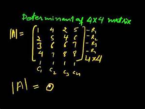 Inverse Matrix 4x4 Berechnen : determinant of 4x4 matrices part 1 youtube ~ Themetempest.com Abrechnung