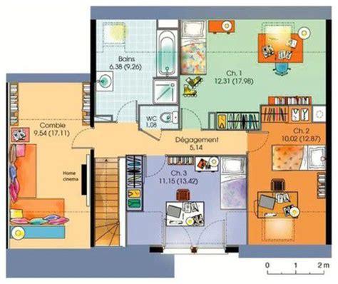 maison plain pied 5 chambres maison contemporaine 5 dé du plan de maison