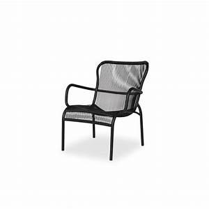 Fauteuil D Extérieur : fauteuil loop lounge chair par vincent sheppard coloris noir taupe ~ Teatrodelosmanantiales.com Idées de Décoration