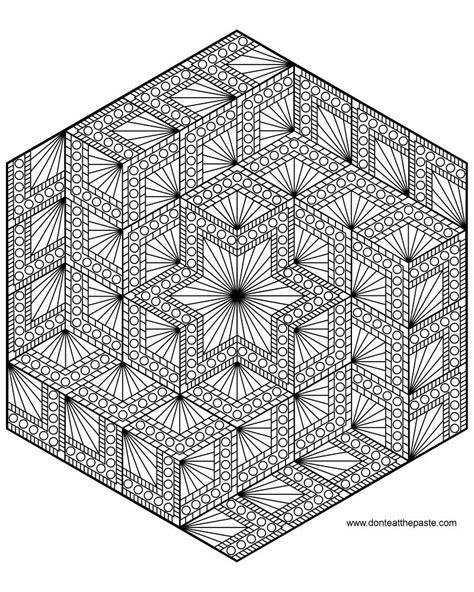 diamond hexagon mandala  color  mandalas coloring