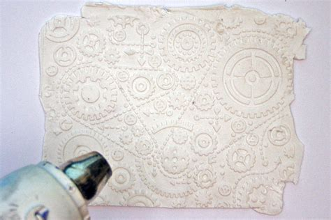 embossed paper clay technique  embossing folders