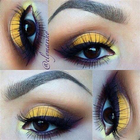 maquillaje amarillo images  pinterest beauty makeup yellow makeup  eye
