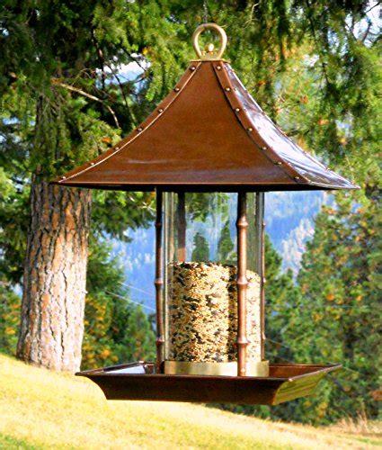 potter large bamboo wild bird feeder farm garden