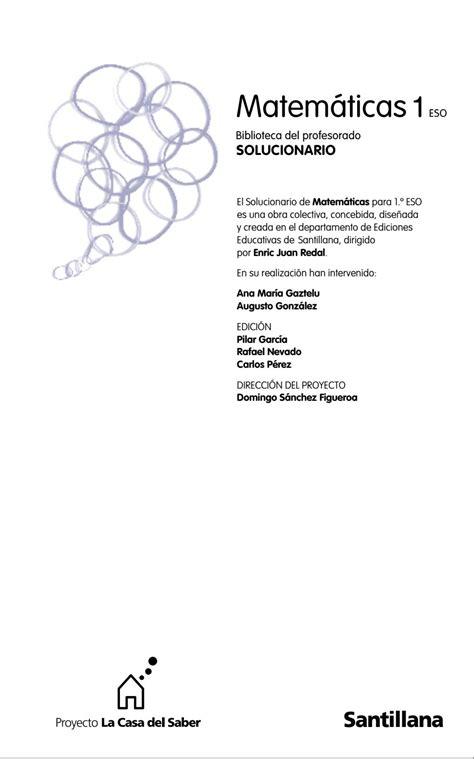 1 186 eso solucionario matem 225 ticas santillana pdf by hugo