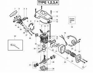 Poulan 2075 Gas Saw Type 4 Parts Diagram For Engine