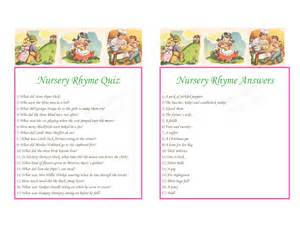 Nursery Rhyme Baby Shower Game Gallery