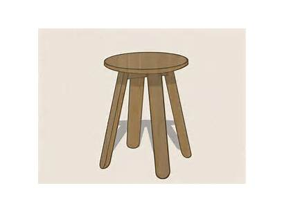 Stool Draw Drawing Household Objects Step Wikihow