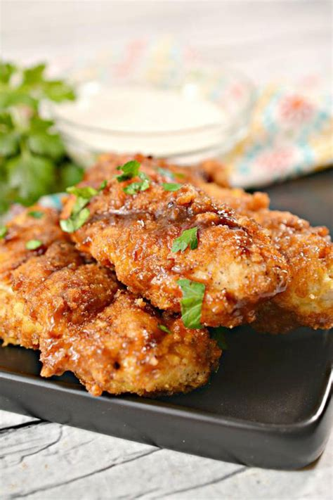 chicken keto air tenders fried bbq fryer strips sugar brown recipe dinner easy carb low watchers appetizer lunch diet weight
