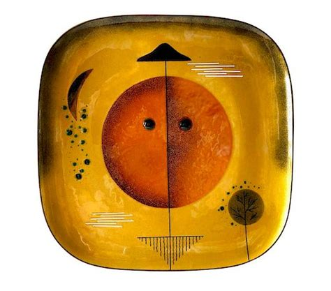miguel pineda copper enamel mexican modern abstract plate charger  lisa cliff collection