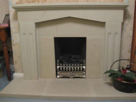 composite effect surround and hearth in