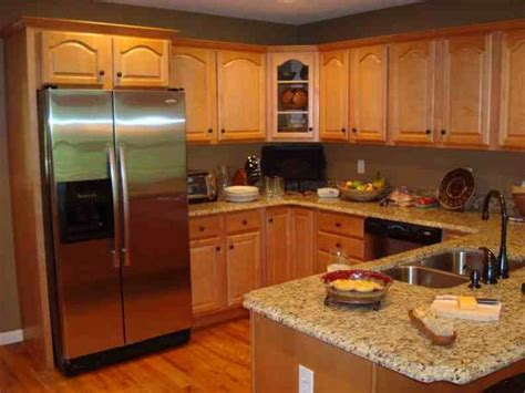 kitchen colors with honey oak cabinets honey oak cabinets with stainless steel appliances