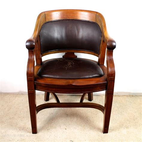 walnut bow back wide desk arm chair antiques atlas