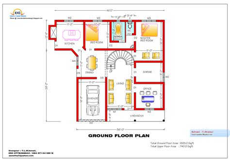 square feet home plan  elevation kerala home