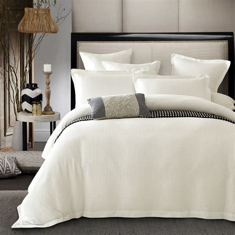 Ivory Duvet Cover by New Luxury 100 Cotton Ivory Colour Waffle Quilt