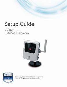Outdoor Camera Oc810 Set Up Guide