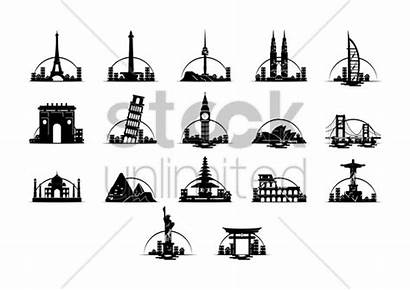 Landmarks Famous Vector Illustration Stockunlimited Graphic