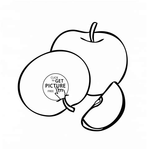 Fruit Printable Coloring Pages Printable Coloring Page Apples Coloring Page For Fruits Coloring Pages