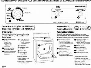 Kenmore 11062722101 User Manual Dryer Manuals And Guides