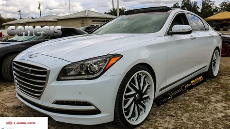 White Hyundai Genesis by Cocaine White Hyundai Genesis On Lexani Forged In Hd Must