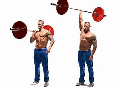 Barbell Press Javelin Exercises Arms Shoulders Workout