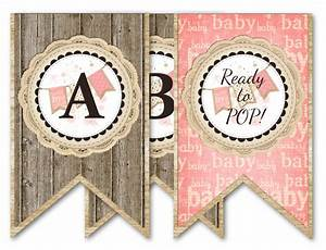 free printable baby shower party favors With individual letters for banner