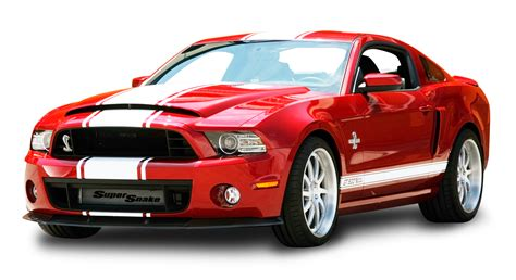 red ford mustang shelby gt snake car png image pngpix