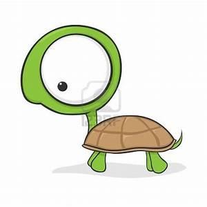 Cute cartoon turtle with huge eyes Stock Photo ...
