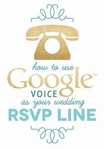create your own wedding rsvp line using google voice a With wedding invitation rsvp by phone