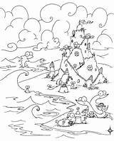 Coloring Castle Sand Sea Creatures Under Crab Drawing Sandcastles River Colouring Otter Animals Tree Animal Building African Simple Sandcastle Elsa sketch template
