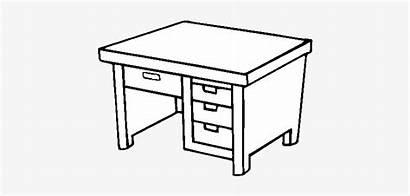 Desk Mesa Colorear Dibujo Escritorio Coloring Seekpng