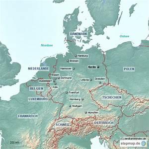 Deutschland Physische Karte : physische landkarte von deutschland 3 von landkartenindex landkarte f r deutschland ~ Watch28wear.com Haus und Dekorationen