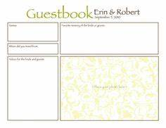 1000 images about invitations and ideas on pinterest With birthday guest book template