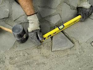 Polygonalplatten Auf Beton Verlegen : gartenweg pflastern bauhaus ~ Lizthompson.info Haus und Dekorationen