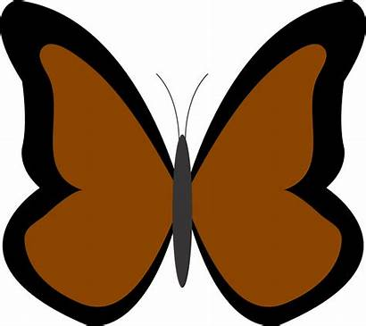 Butterfly Clipart Brown Clip Pink Simple Cliparts