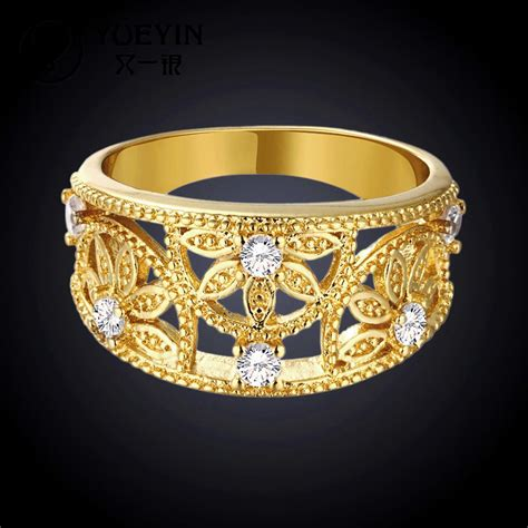 r096 wholesale fashion 18k gold jewelry ring dubai