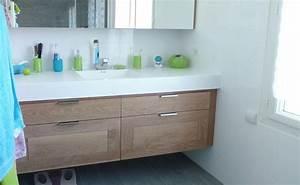 meuble de salle de bain sur mesure delorme meubles With meuble de salle de bain chene massif
