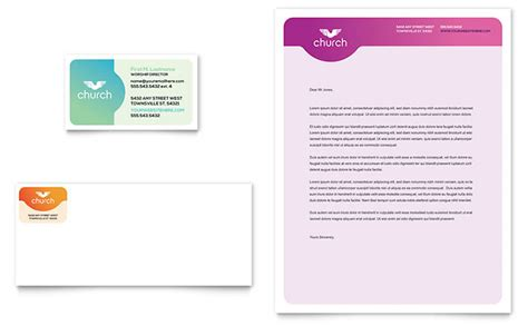 Download 45 free letterhead templates microsoft word picture. Church Business Card & Letterhead Template - Word & Publisher